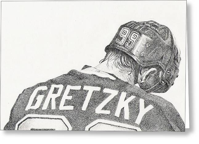 Wayne Gretzky Greeting Cards - Great Greeting Card by Paul Smutylo