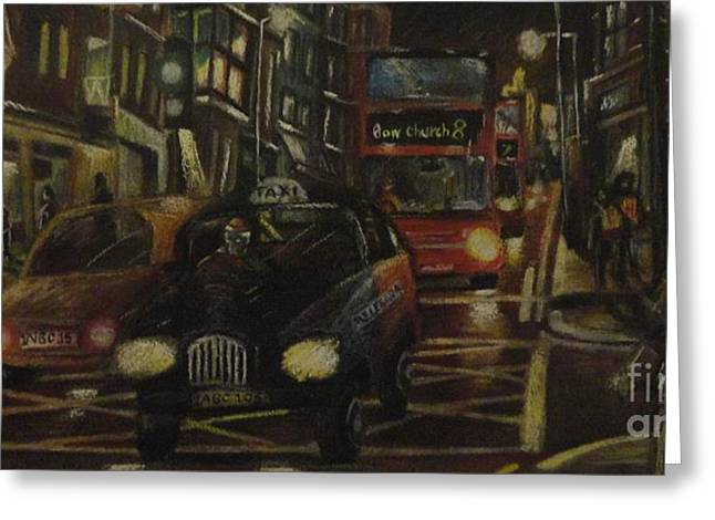 Great Pastels Greeting Cards - Great Portland Street Greeting Card by Michael Co