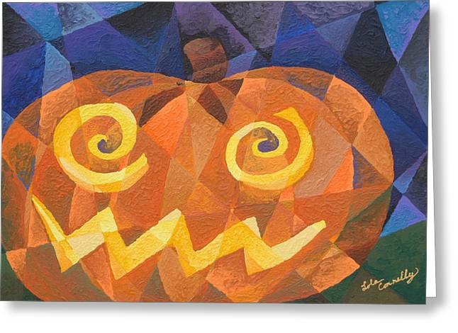 Lola Connelly Greeting Cards - Great Pumpkin Greeting Card by Lola Connelly