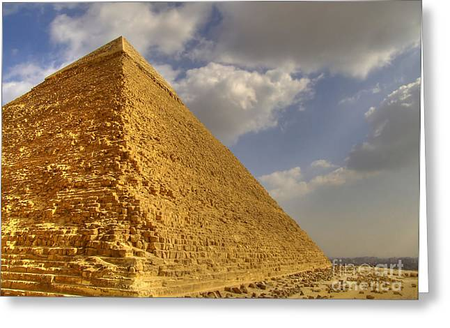 Pyramids Greeting Cards - Great Pyramid Greeting Card by Antony McAulay