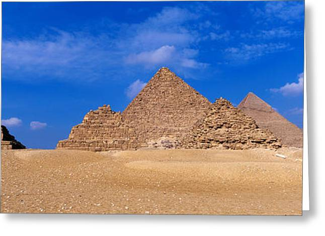 The Plateaus Greeting Cards - Great Pyramids, Giza, Egypt Greeting Card by Panoramic Images