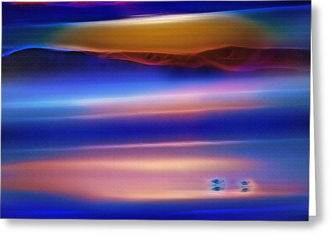 Water Fowl Mixed Media Greeting Cards - Great Salt Lake Antelope Island Utah 4 - Fractal Greeting Card by Steve Ohlsen