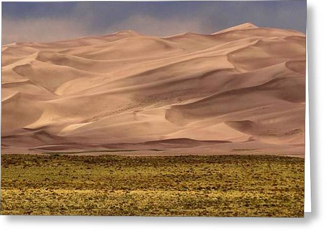 Great Sand Dunes In Colorado Greeting Card by Dan Sproul