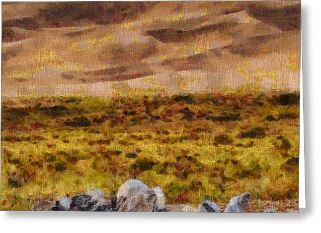 National Park Mixed Media Greeting Cards - Great Sand Dunes National Park On Canvas Greeting Card by Dan Sproul