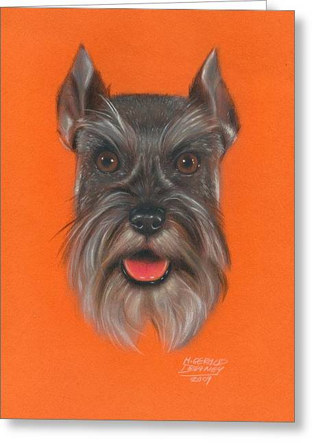 Terrier Pastels Greeting Cards - Great Scott Greeting Card by M Gerald Delaney