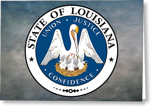 Piety Greeting Cards - Great Seal of the State of Louisiana  Greeting Card by Movie Poster Prints