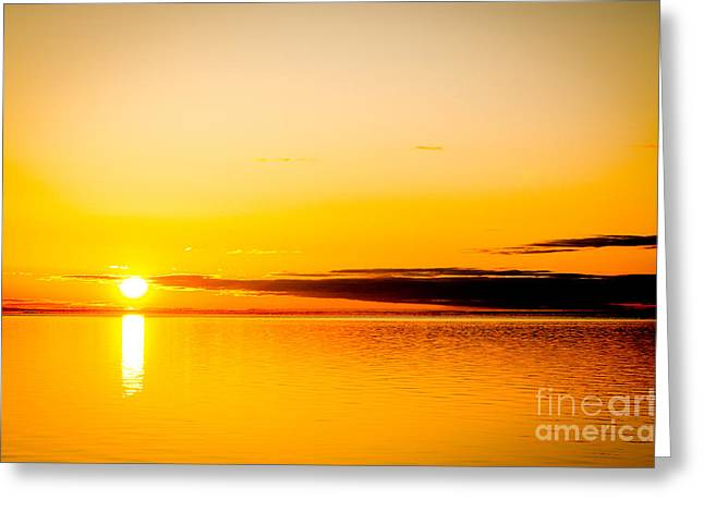 Slaves Greeting Cards - Great Slave Lake Greeting Card by Lisa Killins