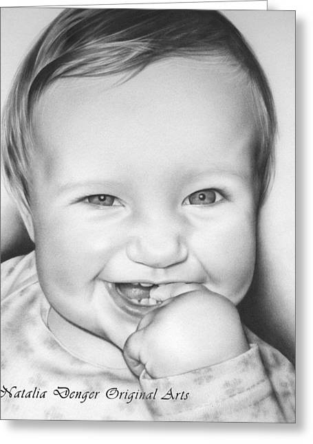 Baby Room Drawings Greeting Cards - Great Smile Greeting Card by Natasha Denger
