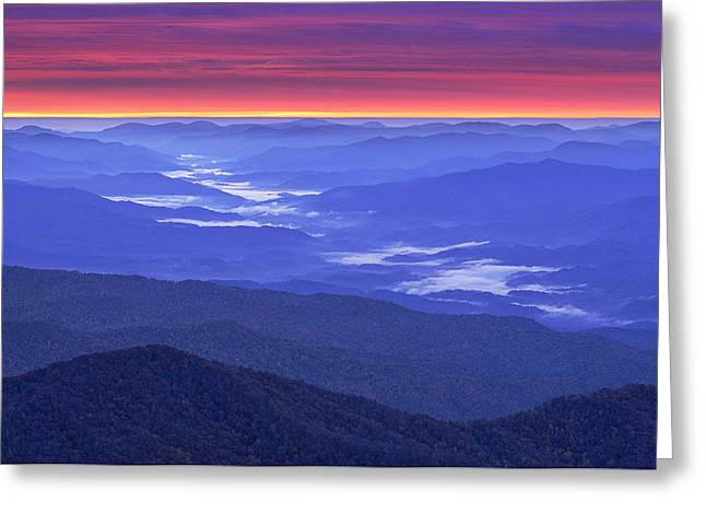 Great Smokey Mountains Greeting Cards - Great Smokey Mountains Greeting Card by Christian Heeb