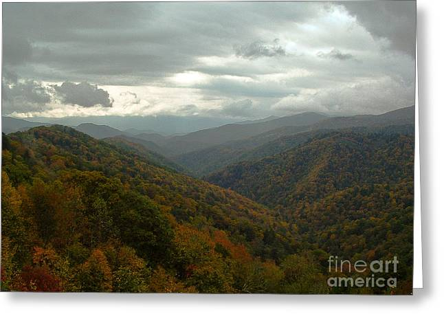 Gatlinburg Tennessee Greeting Cards - The Great Smokey Mountains Greeting Card by Reid Callaway