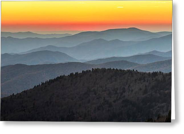 Amazing Sunset Greeting Cards - Great Smoky Mountains National Park sunset Greeting Card by Pierre Leclerc Photography
