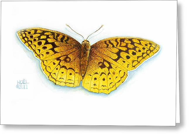 Hunters Moon Greeting Cards - Great Spangled Fritillary Greeting Card by Catherine Noel