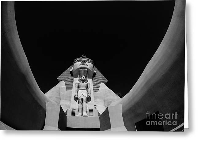 Luxor Greeting Cards - Great Sphinx Luxor Las Vegas Greeting Card by Edward Fielding