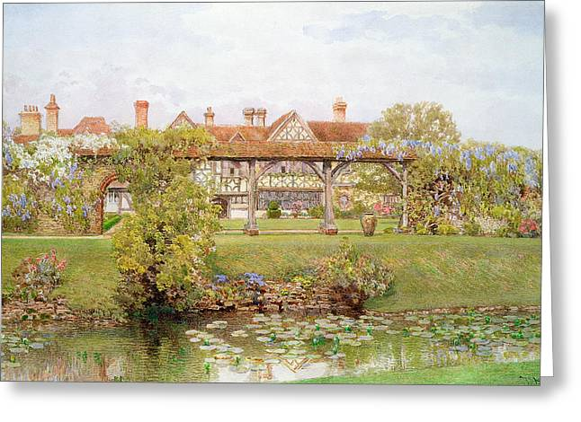 Country House Greeting Cards - Great Tangley Manor, Surrey Greeting Card by Thomas H. Hunn