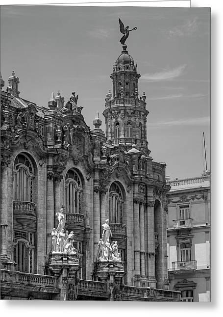 Great Theatre Of Havana  Havana, Cuba Greeting Card by David Chapman
