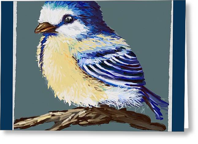 Great Paintings Greeting Cards - Great tit Greeting Card by Veronica Minozzi