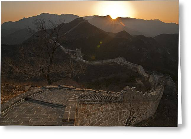 Great Wall Greeting Cards - Great Wall Badaling Greeting Card by Aaron S Bedell