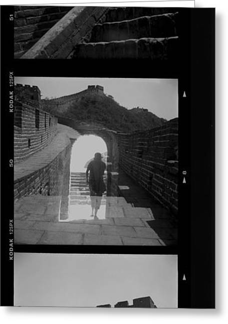 Becky Greeting Cards - Great Wall Multi Greeting Card by Becky Kozlen