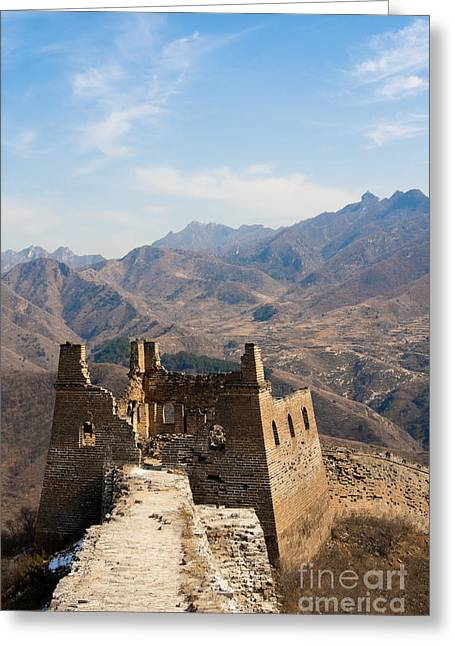 Lookout Tower Greeting Cards - Great Wall of China Greeting Card by Fototrav Print