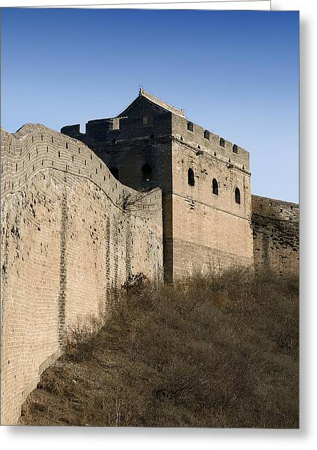 Watch Tower Greeting Cards - Great Wall of China - Jinshanling -Watchtower Greeting Card by Brendan Reals