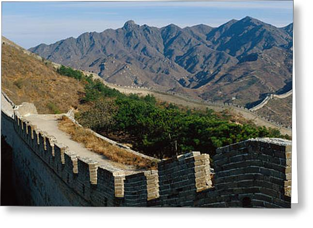 Border Photographs Greeting Cards - Great Wall Of China Greeting Card by Panoramic Images