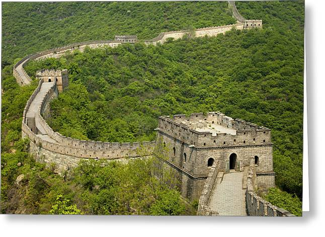 World Wonder Greeting Cards - Great Wall of China Greeting Card by Rory Wallwork