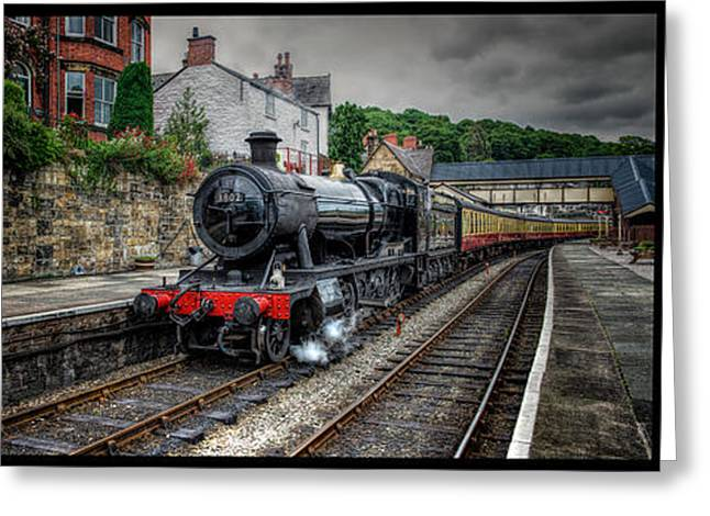 2-8-0 Greeting Cards - Great Western Locomotive Greeting Card by Adrian Evans