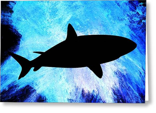Sea Life Digital Art Greeting Cards - Great White Greeting Card by Aaron Berg
