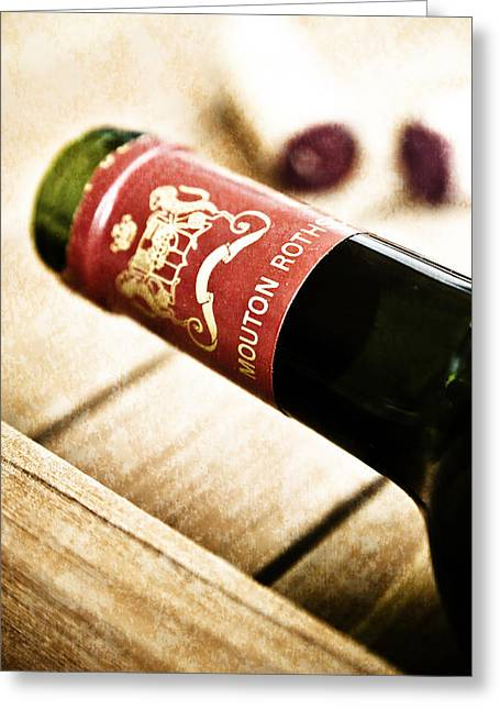 Fine Wine Greeting Cards - Great Wines Of Bordeaux - Chateau Mouton Rothschild Greeting Card by Frank Tschakert