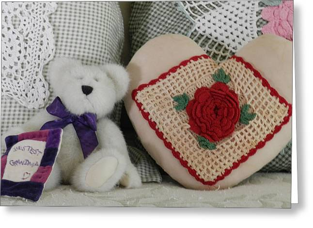 Crocheted Doily Greeting Cards - Greatest Grandma Greeting Card by Grace Dillon
