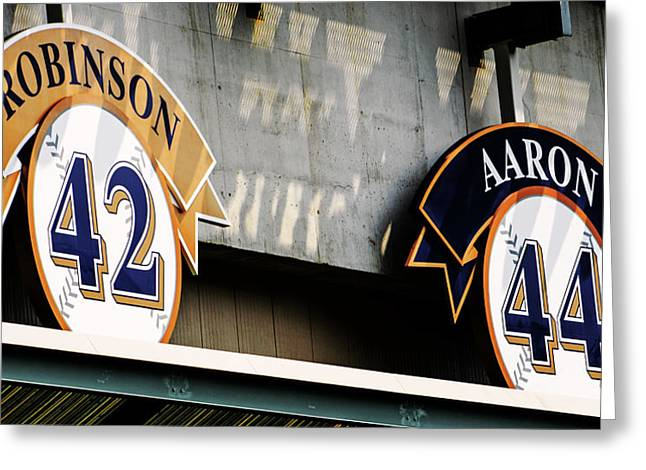 Jackie Robinson Greeting Cards - Greatest Names Greeting Card by Susan  McMenamin