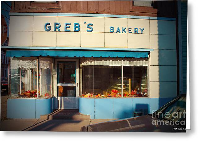 Greb's Bakery Pittsburgh Greeting Card by Jim Zahniser