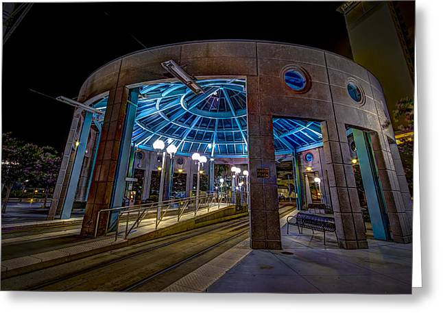 Greco Plaza Greeting Card by Marvin Spates