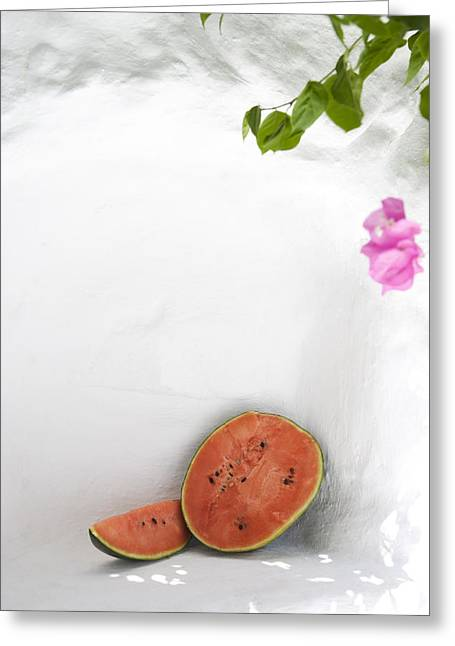 Watermelon Greeting Cards - Greece. Cyclades Islands Greeting Card by Tips Images
