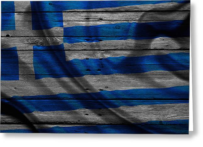 Greece Photographs Greeting Cards - Greece Greeting Card by Joe Hamilton