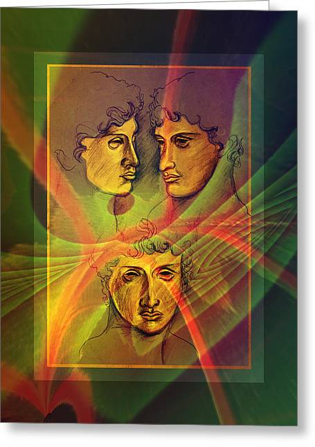 Greek Sculpture Mixed Media Greeting Cards - Greek Boy Greeting Card by Joel Mariano