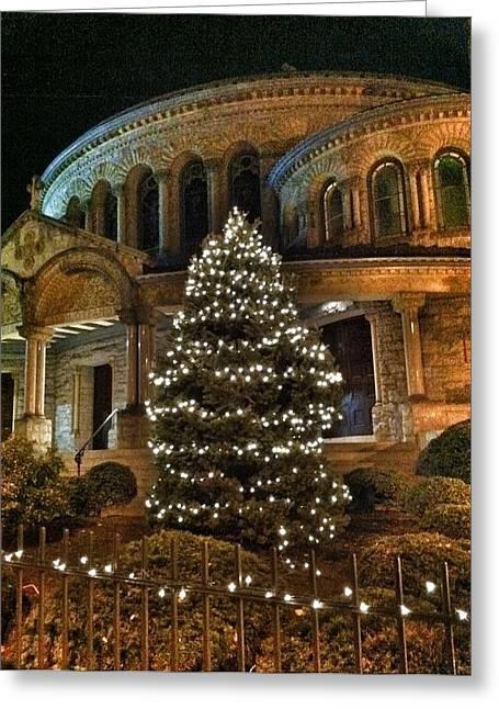 Toni Martsoukos Greeting Cards - Greek Christmas Greeting Card by Toni Martsoukos