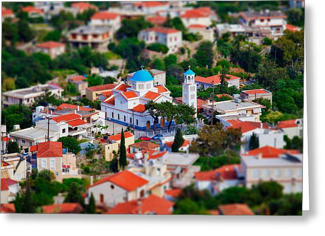 Klimis Greeting Cards - Greek Church - Agios Markos Greeting Card by Emmanouil Klimis