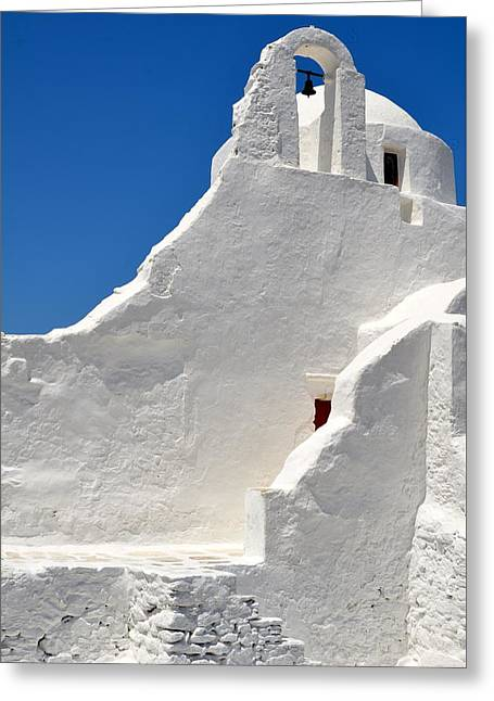 Greek Church Greeting Card by Corinne Rhode