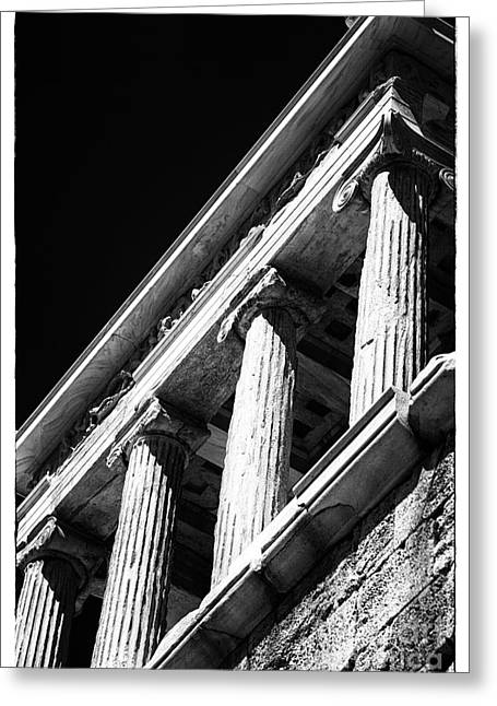 Greek School Of Art Greeting Cards - Greek Columns Greeting Card by John Rizzuto