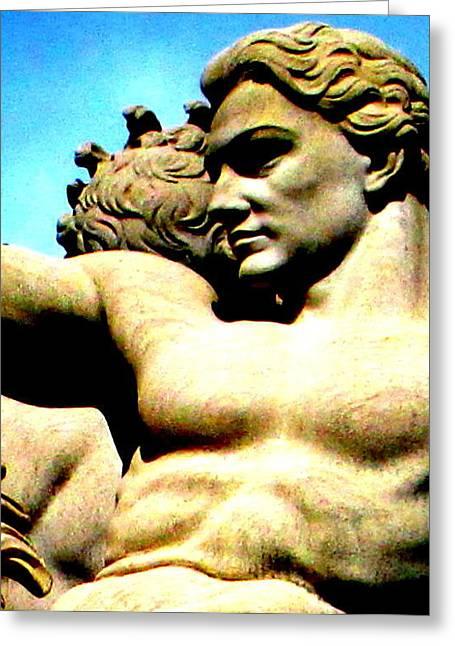Greek Sculpture Greeting Cards - Greek God Greeting Card by Randall Weidner
