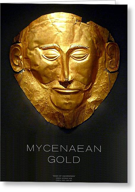 Gold Earrings Greeting Cards - GREEK GOLD - Mycenaean Gold Greeting Card by Helena Kay