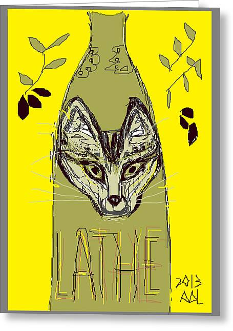 Greek Olive Greeting Card by Anita Dale Livaditis