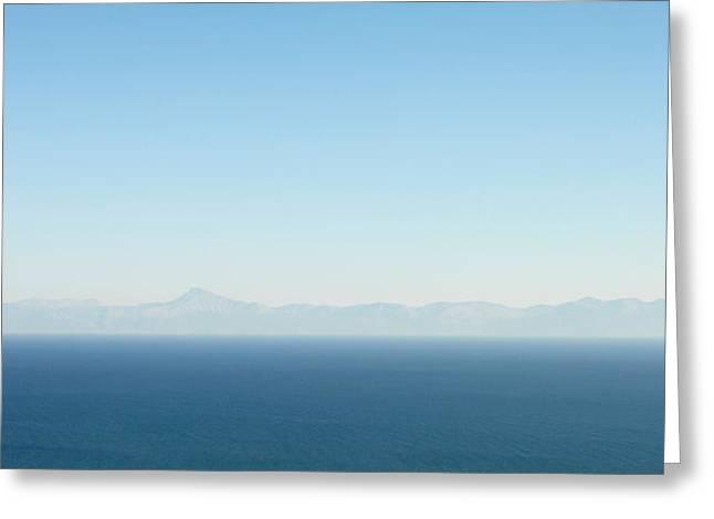 Aegean Greeting Cards - Greek panorama Greeting Card by Tom Gowanlock