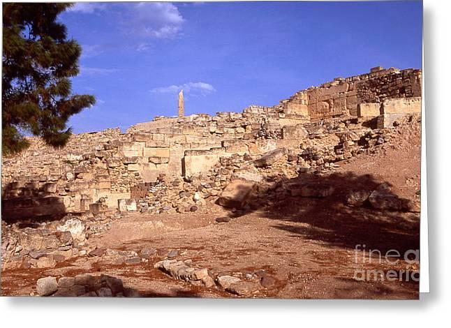 Ancient Greek Ruins Greeting Cards - Greek ruins Greeting Card by Paul Cowan