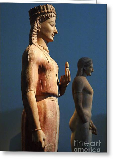 Greek Sculpture Greeting Cards - Greek Sculpture Athens 1 Greeting Card by Bob Christopher