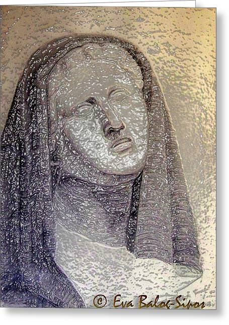 Greek Sculpture Digital Art Greeting Cards - Greek Sculpture Greeting Card by Eva Balog-Sipos