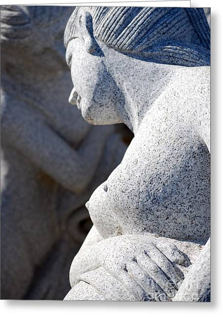 Greek Sculpture Greeting Cards - Greek statues Greeting Card by Antony McAulay