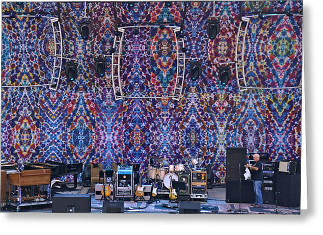 Greek Tapestries - Textiles Greeting Cards - Greek Theatre Backdrop 2013 Berkeley Greeting Card by Courtenay Pollock