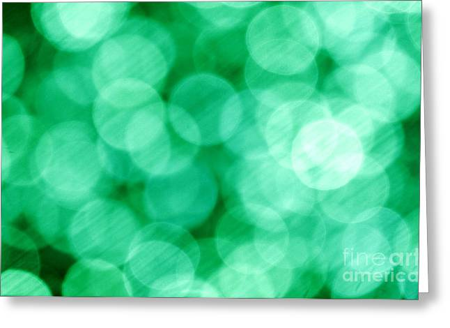 Total Abstract Greeting Cards - Green Abstract Greeting Card by Tony Cordoza